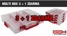 Krabička/kufrík na nástrahy - MULTI BOX 3 + 1 ZDARMA