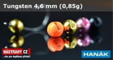 Wolfrámová hlavička 4,6 mm - 0,85 g - 5 ks
