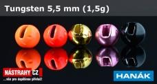 Wolfrámová hlavička 5,5 mm - 1,5 g - 5 ks
