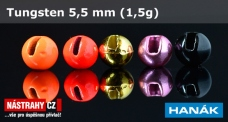 Volfrámová hlavička 5,5 mm - 1,5 g - 5 ks