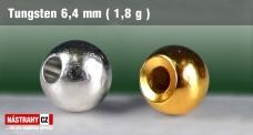 Wolfrámová hlavička 6,4 mm - 1,8 g - 7 ks