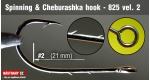 Cheburashka hooks 825, #2, 5 ks