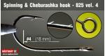 Cheburashka hooks 825, #4, 5 ks