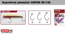 Bezprotihrotý jednoháčik na woblery VANFOOK ME-31BL