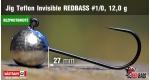 BL Jig Teflon Invisible #1/0 - 12,0 g, 5 ks +0,24 €