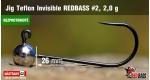 BL Jig Teflon Invisible #2 - 2,0 g, 5 ks