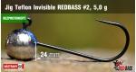 BL Jig Teflon Invisible #2 - 5,0 g, 5 ks