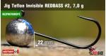 BL Jig Teflon Invisible #2 - 7,0 g, 5 ks