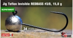 BL Jig Teflon Invisible #3/0 - 15 g, 5 ks +0,16 €