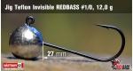 Jig Teflon Invisible RedBass #1/0 - 12,0 g, 5 ks +0,24 €