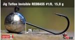 Jig Teflon Invisible RedBass #1/0 - 15,0 g, 5 ks +0,24 €