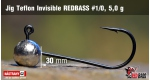 Jig Teflon Invisible RedBass #1/0 - 5,0 g, 5 ks