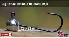 Jigová hlavička Teflon Invisible REDBASS # 1/0, 5 ks