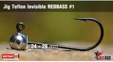 Jigová hlavička Teflon Invisible REDBASS # 1, 5 ks