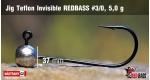 Jig Teflon Invisible #3/0 - 5,0 g, 5 ks