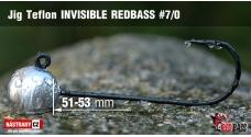 Jigová hlavička Teflon Invisible REDBASS # 7/0, 5 ks