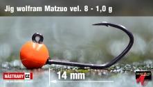 Jigová wolfrámová hlavička Matzuo vel. 8 - 14 mm - 5 ks