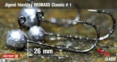 Jig REDBASS Classic #1 - 26 mm - 5 ks