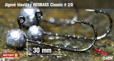 Jigová hlavička REDBASS Classic #2/0 - 30 mm