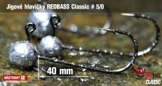 Jigová hlavička REDBASS Classic #5/0 - 40 mm