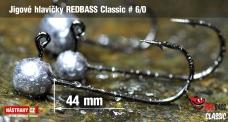 Jigová hlavička REDBASS Classic #6/0 - 44 mm