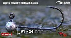 Jigová hlavička REDBASS Sickle #1 - 24 mm, 5 ks