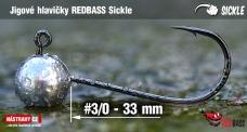 Jigová hlavička REDBASS Sickle #3/0 - 33 mm, 5 ks