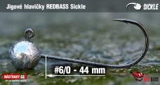 Jigová hlavička REDBASS Sickle #6/0 - 44 mm, 5 ks