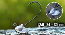 Neváznoucí jigová hlavička REDBASS StandUp Pro Sickle #2/0, 24 - 30 mm, 5 ks