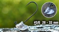 Neváznoucí hlavička REDBASS StandUp Pro Sickle #3/0, 28 - 33 mm, 5 ks