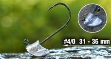 Neváznoucí jigová hlavička REDBASS StandUp Pro Sickle #4/0, 31 - 36 mm, 5 ks