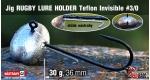 Jig Teflon RUGBY - Lure holder #3/0, 30 g, 5 ks +0,40 €