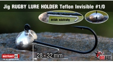 Jig Teflon Invisible RUGBY - Lure holder # 1/0, 5 pcs