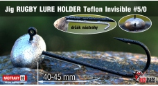 Jig Teflon Invisible RUGBY - Lure holder # 5/0, 5 pcs