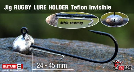 Jigová hlavička Teflon Invisible RUGBY - LURE HOLDER