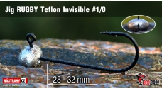 Jig Teflon Invisible RUGBY # 1/0, 5 pcs