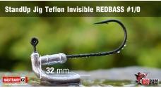 Neváznoucí jigovka Teflon Invisible REDBASS - s nálitkom #1/0, 5 ks