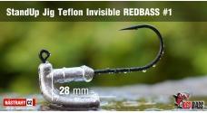 Neváznoucí jigovka Teflon Invisible REDBASS - s nálitkom #1, 5 ks