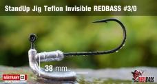 Neváznoucí jigovka Teflon Invisible REDBASS - s nálitkom #3/0, 5 ks
