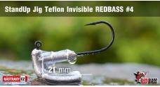 Neváznoucí jigovka Teflon Invisible REDBASS - s nálitkom #4, 5 ks