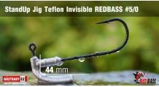 Neváznoucí jigovka Teflon Invisible REDBASS - s nálitkom #5/0, 5 ks