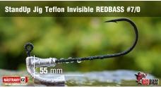 Neváznoucí jigovka Teflon Invisible REDBASS - s nálitkom #7/0, 5 ks