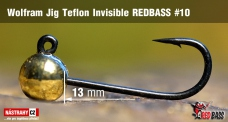 Wolfrámový jig Teflon Invisible REDBASS vel. 10 - 13 mm - 5 ks