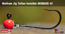 Wolfrámový jig Teflon Invisible REDBASS vel. 2 - 26 mm - 5 ks