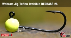 Wolfrámový jig Teflon Invisible REDBASS vel. 6 - 19 mm - 5 ks