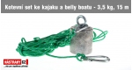 Kotevný set ku kajaku a belly boatu 3,5 kg, 15 m lano