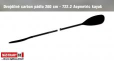 Dvojdielne karbonové pádlo 260 cm - 722.2 Asymetric - Skladem po 10. 10. 2020