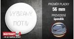 průměr 56 mm - placka se špendlíkem +0,39 €