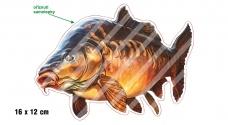 Rybárska samolepka KAPOR L