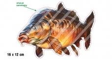 Rybárska samolepka KAPR L